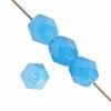 Czech Fire polished 4mm Opaque Blue Alabaster Matte